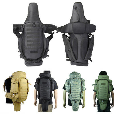 Molle Extended Full Gear Rifle Backpack Gun Portage Carring Bag Pouch Case Army
