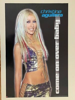Christina Aguilera,come On Over Baby, Rare 2000 Poster