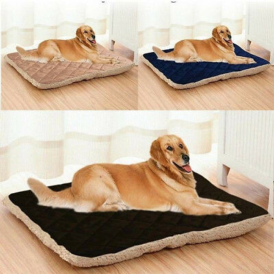 Large Pet Dog Bed Soft Plush Cat Foldable Cushion Warm Mat Washable Sleep Cozy H