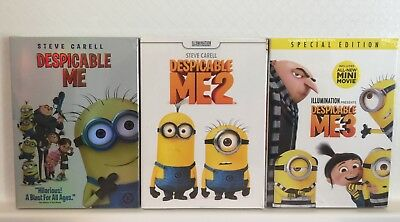 Despicable Me 1, 2, & 3 Trilogy - 3 DVD Combo (Free USPS Shipping)