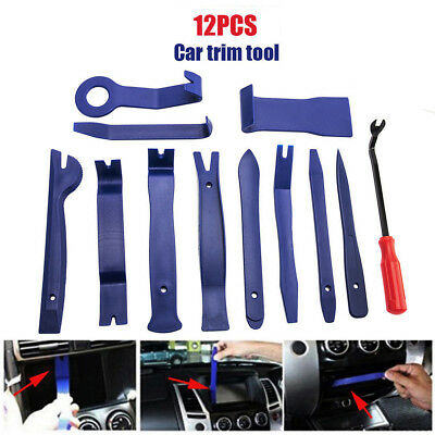 12 Car Radio Audio Stereo Door Trim Dash Panel Install Removal Open Pry Tool Kit