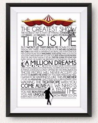 The Greatest Showman Quote Poster *Print*