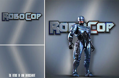 Poster Backdrop~Robocop~Logo For 1/6 Hot Toys Figure Murphy Mms266 Mms32 Diorama