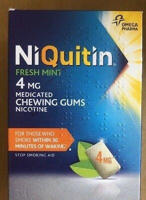 NIQUITIN Fresh Mint 2mg / 4mg Chewing Gum X 36 Pieces - OUT OF DATE