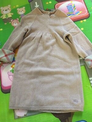 Burberry Baby Girl Cashmere Pink Dress 18-24 Months RRP195