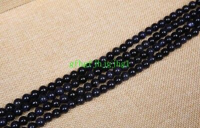 Wholesale 10-14mm Natural Blue Sand Stone Round Gemstone Loose Spacer Beads 15''