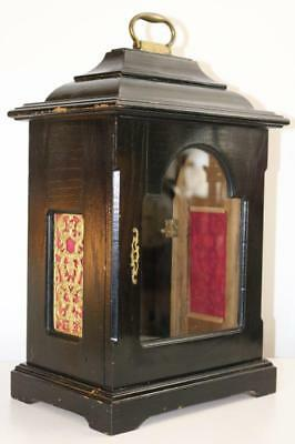 LARGE GEORGIAN STYLE EBONISED BRACKET CLOCK CASE suit a repeating movement