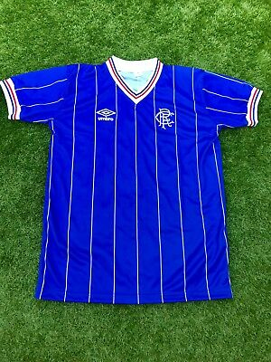 RANGERS 1982 Replica Home Shirt Size XL
