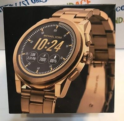 195c07ad5d88 Michael Kors 47MM Grayson Gold-Tone Smartwatch MKT5026 NEW!! USA SELLER!
