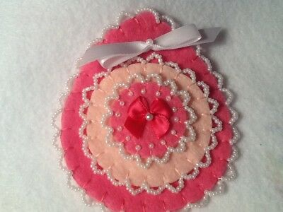 Pink Valentine's Day or Christmas ornament