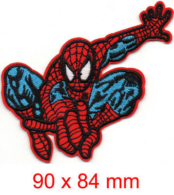 Marvel Avengers Spiderman iron-on patch superhero embroidered logo badge h tw