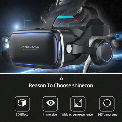 Virtual Reality 3D VR Headset Glasses 360 Panoramic for iPhone Android SamsungFO