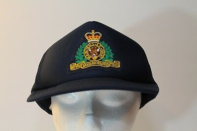 RCMP Royal Canadian Mounted Police Foam Trucker Hat Vintage Navy Snapback