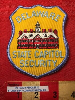 VINTAGE PATCH DELAWARE STATE CAPITOL SECURITY GUARD Dover DE 56Z4