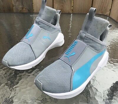 huge discount e214a 98cd7 PUMA FIERCE CORE Mono high top shoes 191532 01 GREY And BlUE mens SZ 6