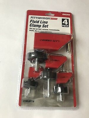 Fluid Line Clamp Set 4 Pc Pinch off lines for repair Pittsburgh Automotive