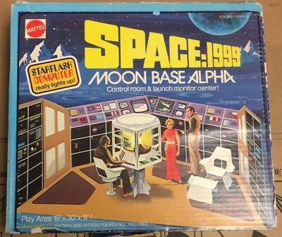 Space:1999 Moon Base Alpha Control Room & Launch Monitor Center in Box Mattel