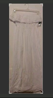 Old Navy Women's Size S ~ White Strapless Long Dress Ladies