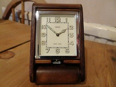 1920s art deco Le Coultre / Finnigan travel clock