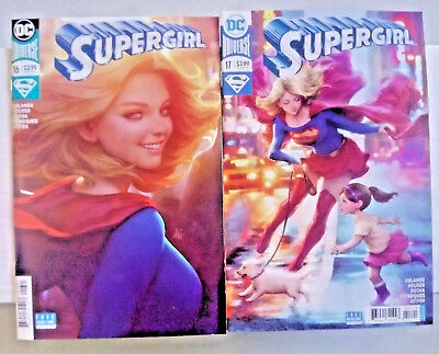 "Lot of Supergirl Comics #16B, 17B (DC) VF/NM-Stanley ""Artgerm"" Lau Variants"