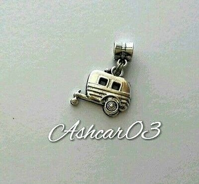 Sterling Silver Camping Picnic Tent Travel Camp Bead for European Charm Bracelet