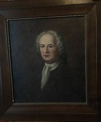 Stately BEAUTIFUL  Late 18th C. Antique Oil Painting of a  Nobleman