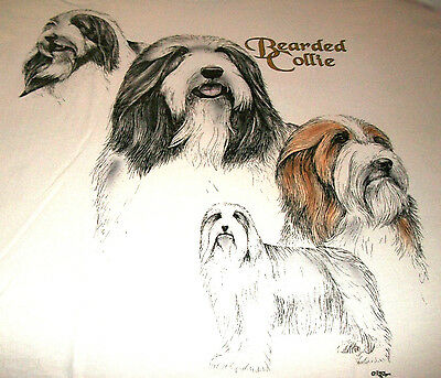 "Bearded Collie Sweatshirt  "" Natural "" MED ( 38 ~ 40 )"