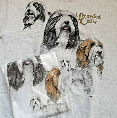 Bearded Collie Sweatshirt & T-shirt Set  MED ( 38 ~ 40 )