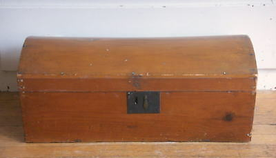 Antique American Dome-Top Pine Blanket Box