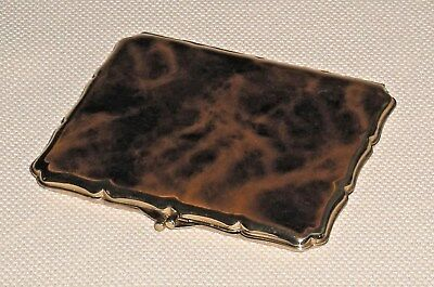 Vintage Enameled Cigarette Case STRATTON England Signed 708g