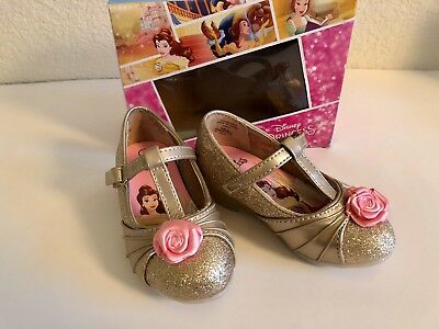 Disney Beauty and The Beast Girls Princess Belle Dress Shoe Size 7 Toddler New