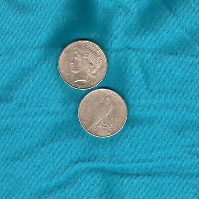 One (1) 1921-1935 AVG CIRCULATED Silver Peace Dollar From Old U.S. Coin Lot