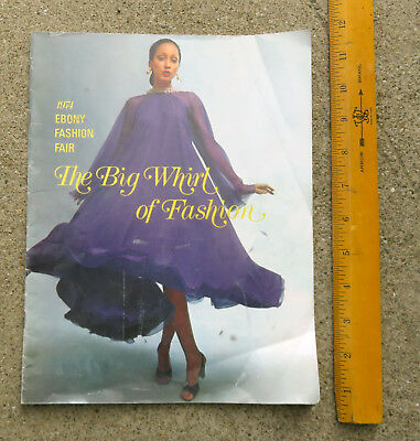 Original 1974 Ebony Fashion Fair The Big Whirl of Fashion Program