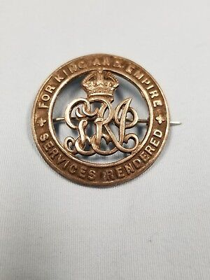 Stunning WW1 British Wound Badge #d And Named