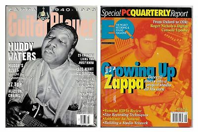 Zappa Lot of 2 Magazines Guitar Player EQ March 1994 August 1977 Frank Dweezil