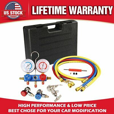New AC Refrigeration Kit A/C Diagnostic Manifold Gauge Set Air for R12 R22 R134a