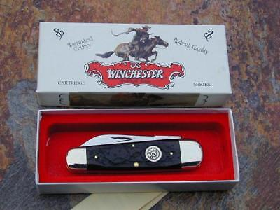 CLASSIC WINCHESTER CARTRIDGE SHIELD SUNFISH TOENAIL WHITTLER USA KNIFE w/ CASE