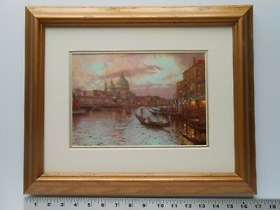 Thomas Kinkade VENICE-SUNSET ON THE GRAND CANAL framed 11X14