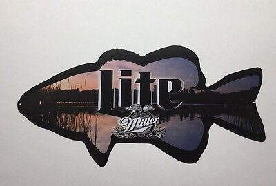 Miller Lite Fishing Beer Sign
