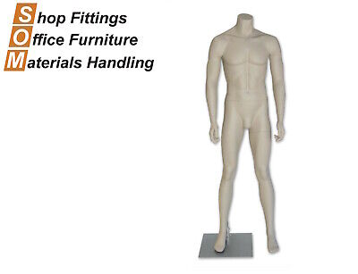 Male Deluxe Full Bodied Headless Clothing Display Mannequin Skin