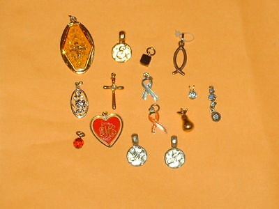 Estate sale jewelry lot of 15 vintage to now pendants for necklaces