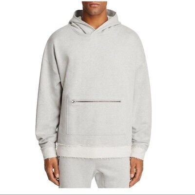 THE NARROWS BLOOMINGDALES Gray Shawl Collar Hooded Sweatshirt Hoodie ***NEW