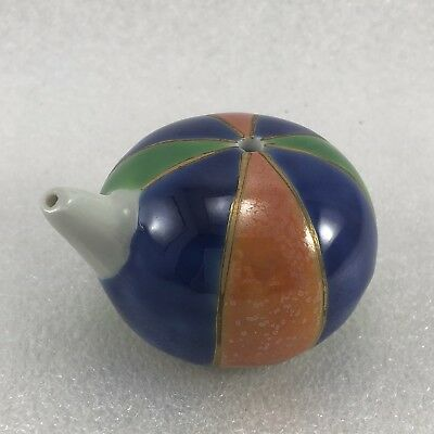 JJ22 Asian Chinese Japanese  Water Dropper Colorful  Glaze Signed