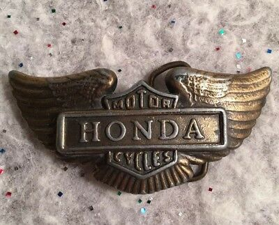 Honda Wings Motorcycle 1970's Vintage Belt Buckle Vintage