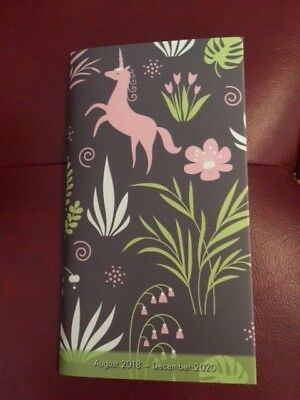 Two-Year Monthly Planner for 2019 - 2020  - NEW - Pink Unicorn Design