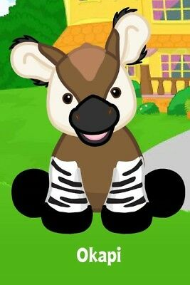 Webkinz Okapi Virtual Code Only UNUSED Pet