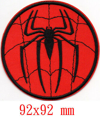 Marvel Avengers Spiderman iron-on patch superhero embroidered logo badge b tw