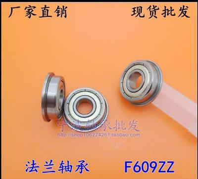 NEW 10 pcs F609ZZ F609Z Shielded Model Flange Bearing 9 x 24 x 7mm