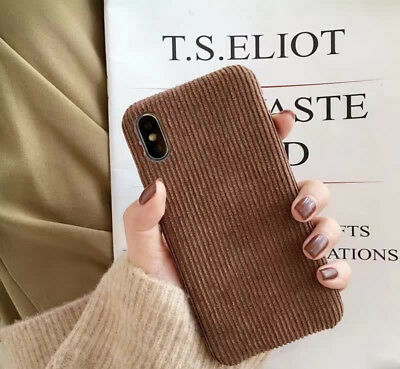 Corduroy Cloth Cover Winter Cute Soft Case For iPhone XS MAX XR Huawei P20 Lite