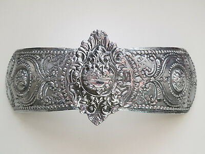 Wow!!! Top Price! A Huge Size Sarakachan Greek Silver Color Folklore Belt Buckle
